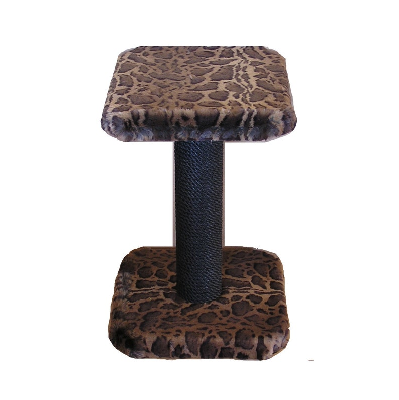 The only Scratching Post that will Last for the Life of your Cat Midcentury Modern Furniture 2 Ft High CAT SCRATCHING POST with Perch..