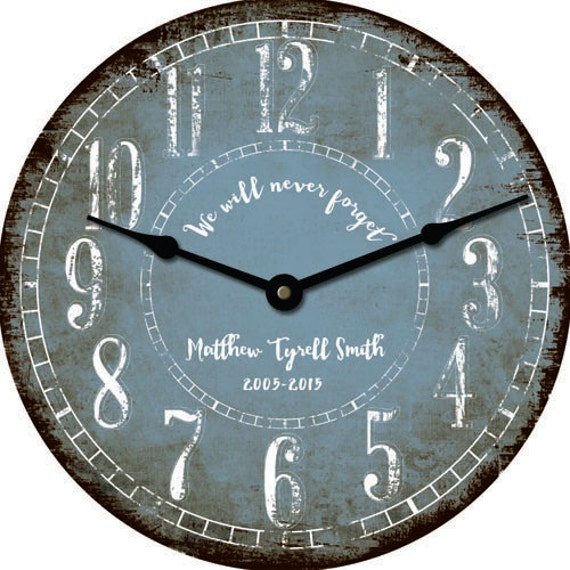 Rustic Personalized 24 Inch Wall Clock Custom Wedding Bridal Etsy