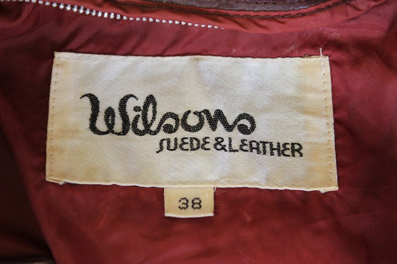 Leather Bomber Jacket 70/'s 80s Wilson Leather Vintage Members Only Style Leather Coat Size 38 Made in USA