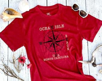 Compass Rose Ocean Isle Beach T shirt