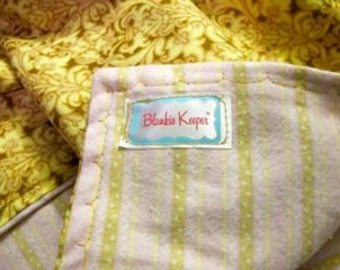Pink Champagne - Flannel-lined Blankie
