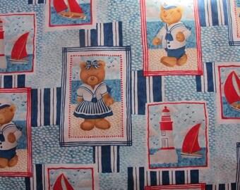"Alexander Henry  – ""Seafaring Bears"" fabric (3 dollars per yard)"