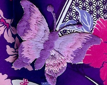 Beautiful purple butterfly iron on