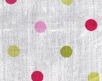 """Multi-Colored Dot Fabric 60"""""""