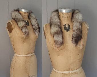 Fox Fur Collar / genuine fur / 1980s / silver fox