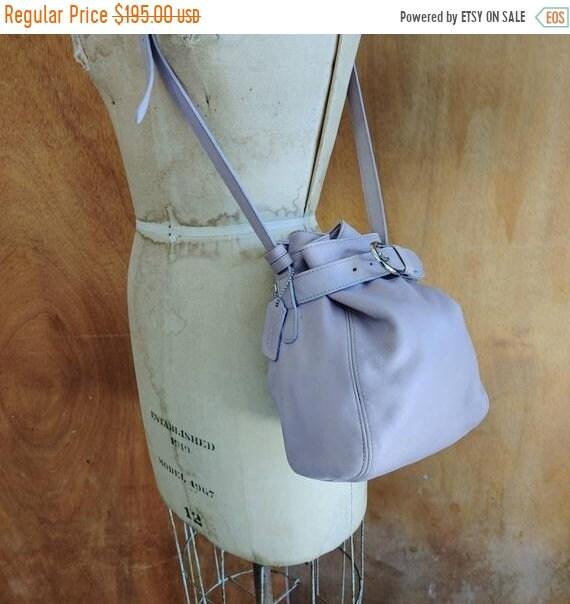 SALE 40% OFF Vintage Purple Coach Bucket Bag / Lea