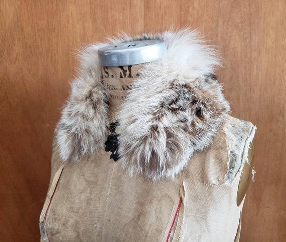 Small Fox Fur Collar genuine fur 1960s multicolor