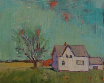 "The Place We Go - Original Acrylic Oil Landscape Painting - 12""x 12"""