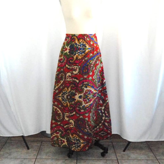 Vintage Paisely Quilted Skirt