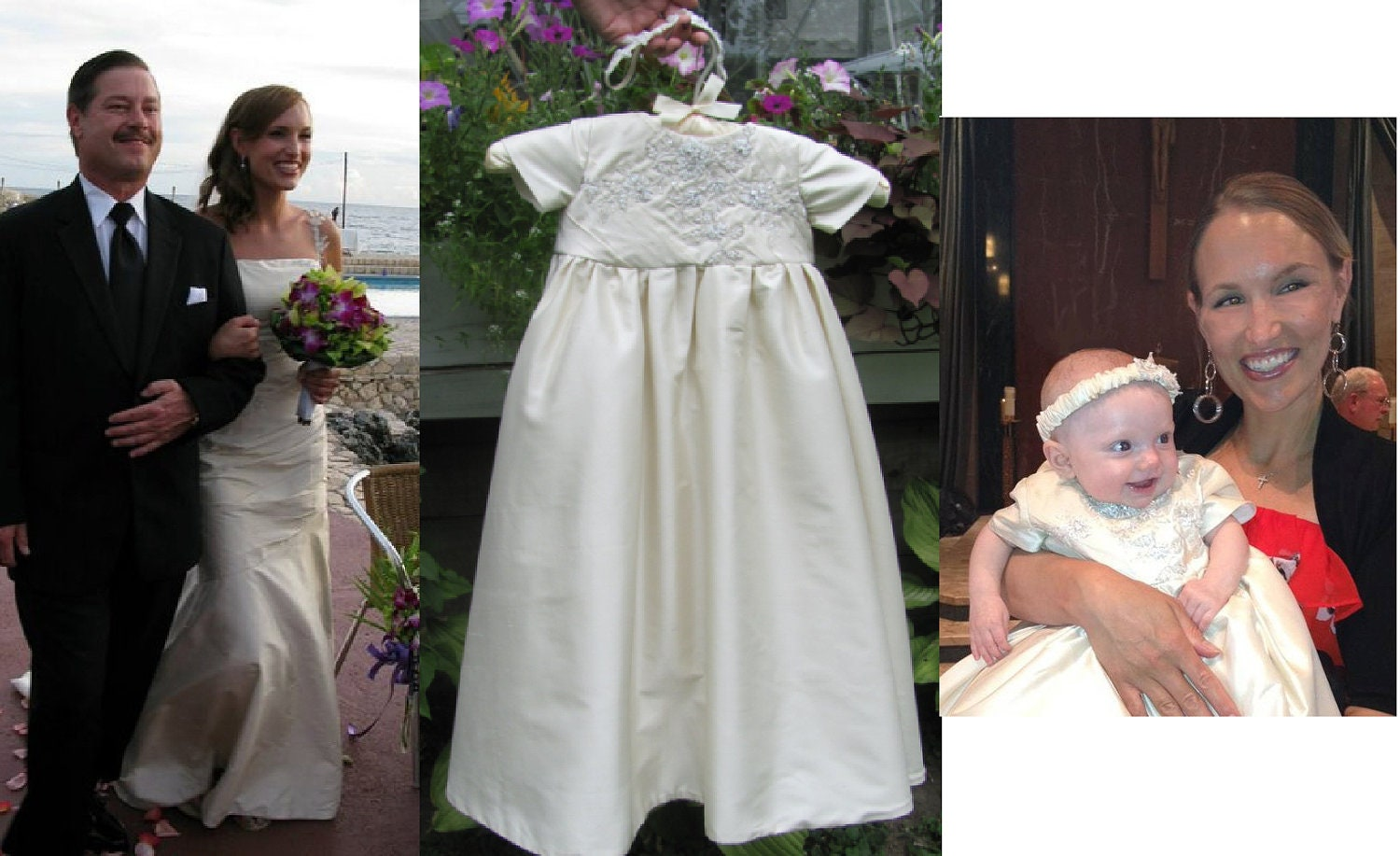 Wedding Dress To Christening Or Baptism Gown Conversion