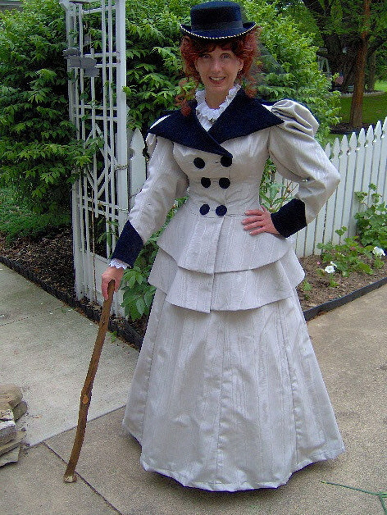 Victorian Dresses | Victorian Ballgowns | Victorian Clothing  1890s Edwardian Walking Traveling Suit - 1894 Victorian Dress -Gibson Girl Skirt Jacket FOR ORDERS ONLY - Custom Made to Fit You - $425.00 AT vintagedancer.com