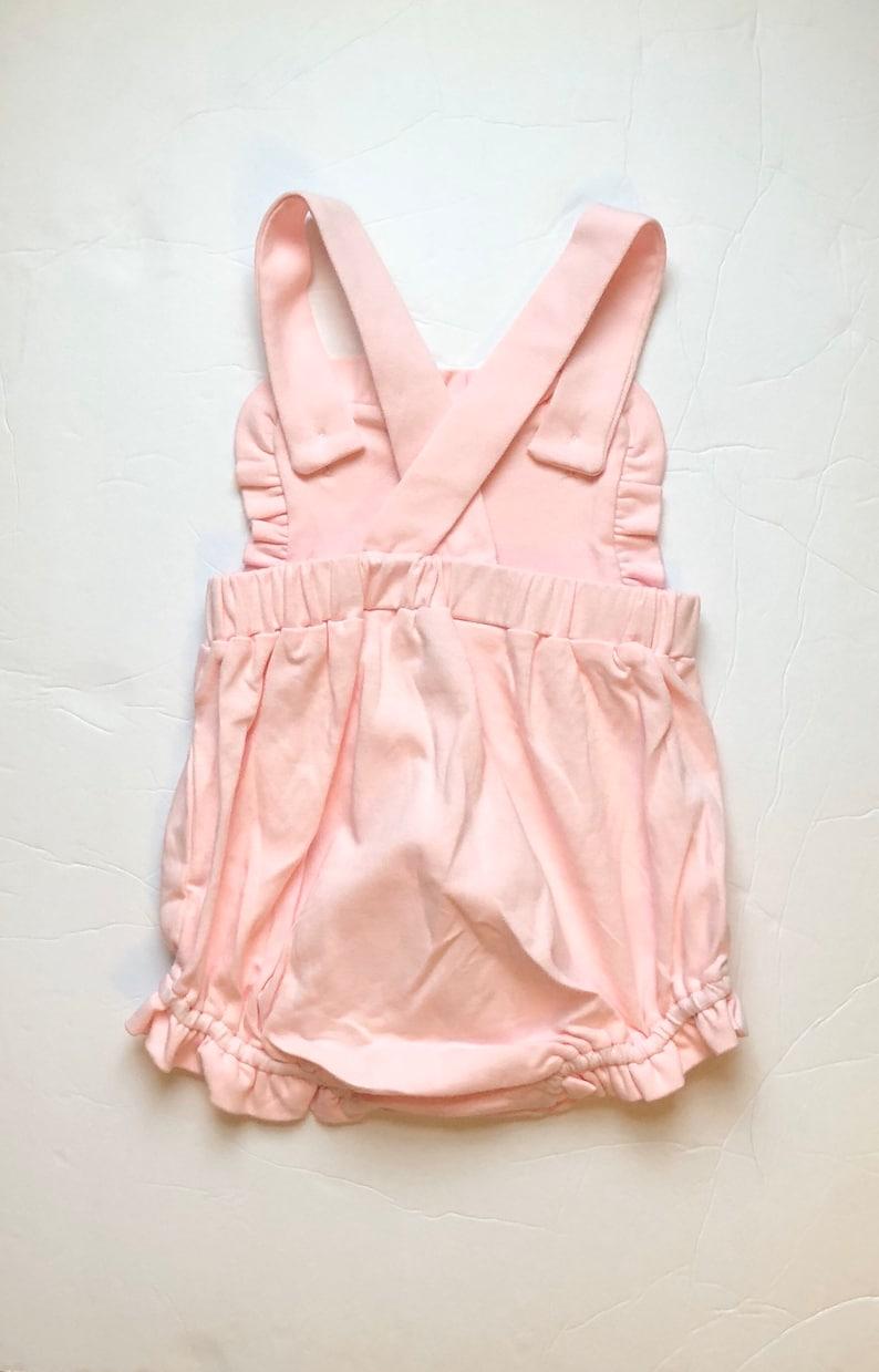 Girl\u2019s Monogrammed Pink Easter Sunsuit