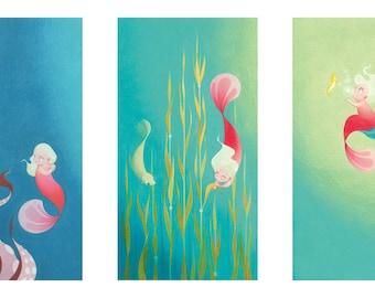 Pearl: print triptych