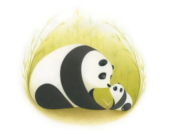 Bamboo Smooches-  Signed, limited edition print