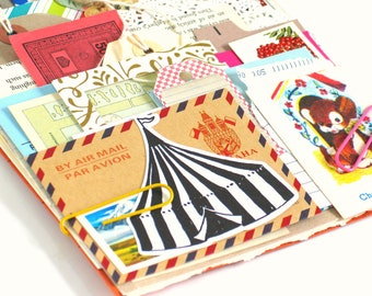 Paper Ephemera Inspiration Kit for Junk Journals Bullet Journals Scrapbooking Planners Smash Books etc Vintage and New Papers - 50 pcs