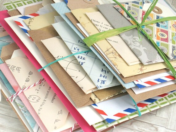 Sobres y etiquetas Pack Vintage Natural tema Scrapbooking basura diario de 20 piezas