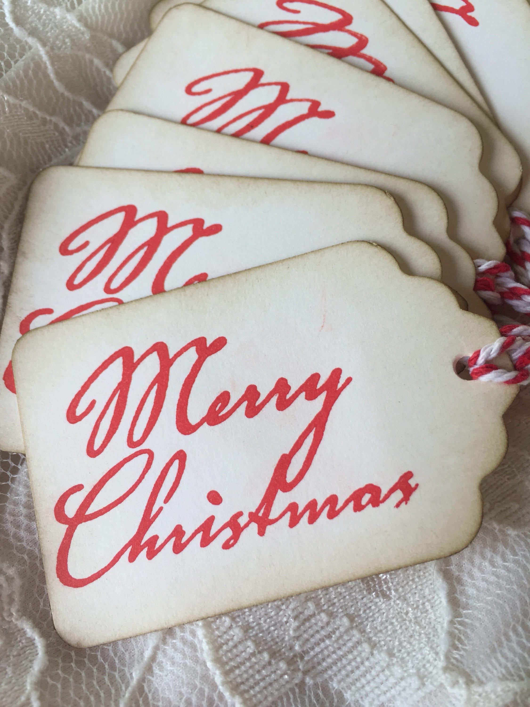 Rustikale Geschenkanhänger Weihnachten Geschenkanhänger | Etsy