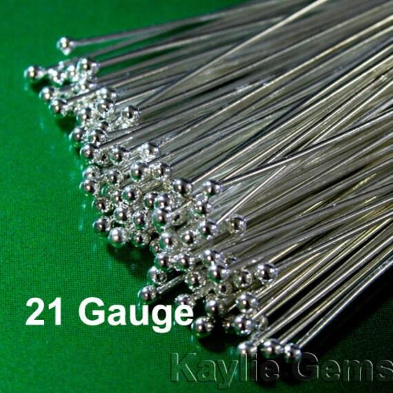 400Pcs 21Ga T-Pins Silver Plated 1.5-Inch Head Pins