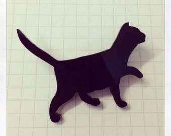 Cat Brooch - Laser Cut Acrylic