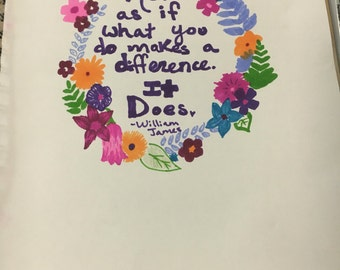 Flower quote