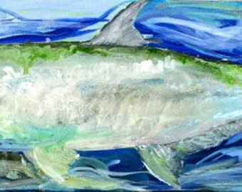 Tarpon Fish Painting by Jenny Pollard on Etsy