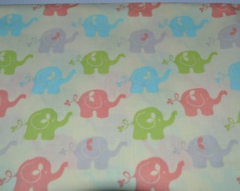 Yellow Fabric with Elephants (by the yard) by Patty Reed Designs for Fabric Traditions