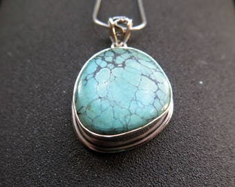 turquoise necklace. natural turquoise pendant. blue stone jewelry. your choice of necklaces. Canadian seller.