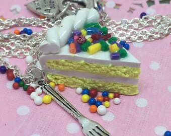 Birthday Cake Slice Necklace
