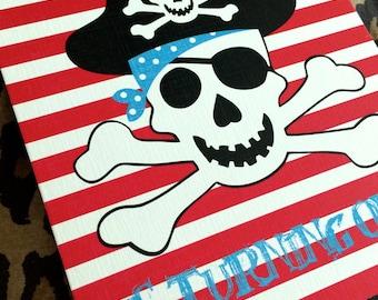 DIY Ahoy Matey Pirate Birthday Party Invitation