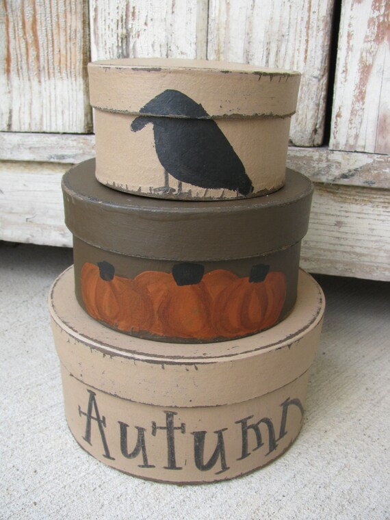 Country Primitive Farmhouse Autumn Fall Harvest Bath Tissue Box Cover Rustic TAN