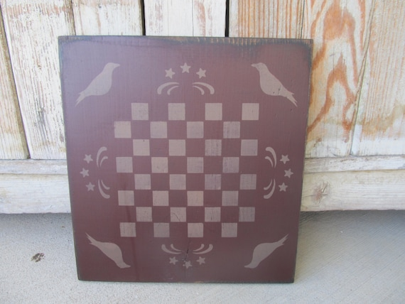 Stencil~CROW VALLEY INN Checkerboard~Classic Colonial Early American Americana