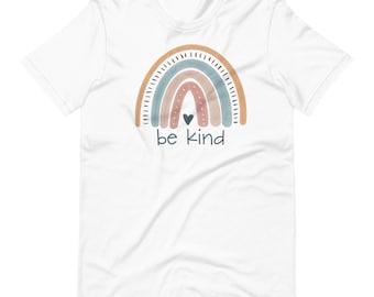 Free shipping! | Be Kind Short-Sleeve Unisex T-Shirt | boho rainbow | Lots of colors! | Bella Canvas brand