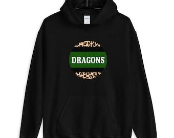 Carroll dragons hoodie | Leopard print | Free shipping | Southlake Carroll