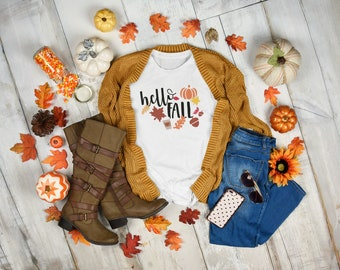 Hello Fall | digital download | sublimation file | digital image | autumn | great for sweatshirts, fall gifts