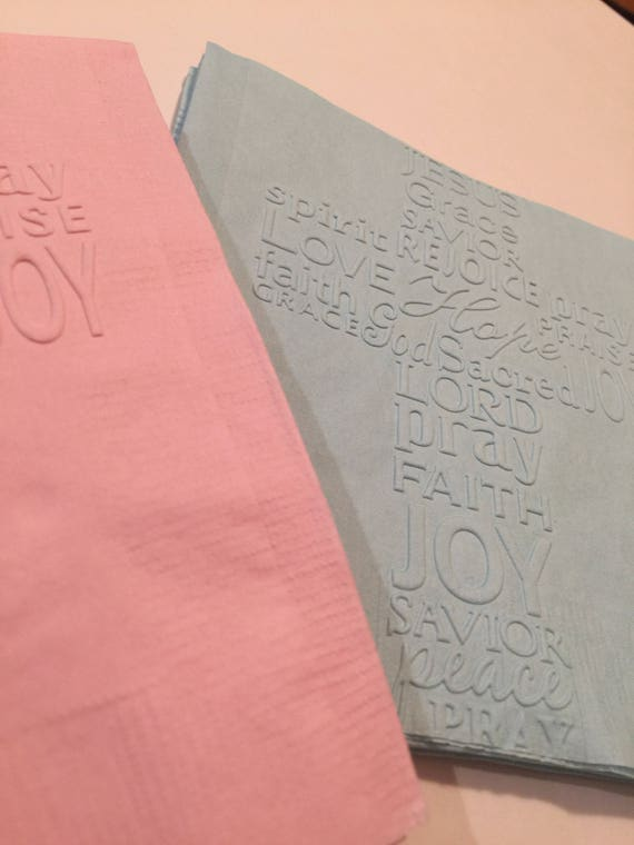 Any color Baby shower shirt or bib shaped NAPKINS Pack of 50. Each with adorable baby elephant