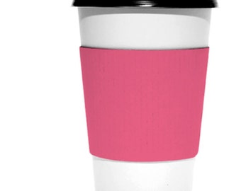 Blanks!  Pack of 15 coffee or hot chocolate cup wraps sleeves in kraft,  white or pink!  Corrugated.