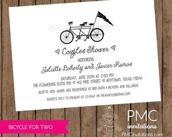 Bicycle wedding shower invitations etsy bicycle for two couples shower invitations 100 each with envelope filmwisefo
