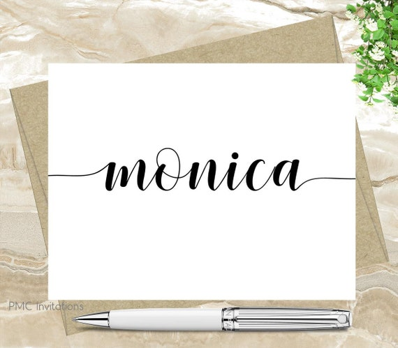 Personalized Note Cards Great Gift For A Teacher 10 Folded So Cute