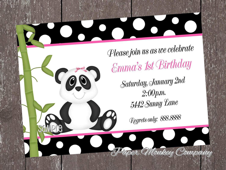 Panda Bear Birthday Invitations for boy or girl | Etsy