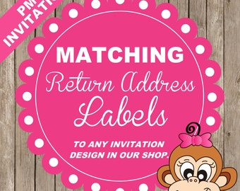 Matching RETURN ADDRESS labels to ANY invitation design in our shop