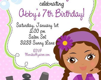 Manicure, Pedicure and Spa Party Birthday Invitations