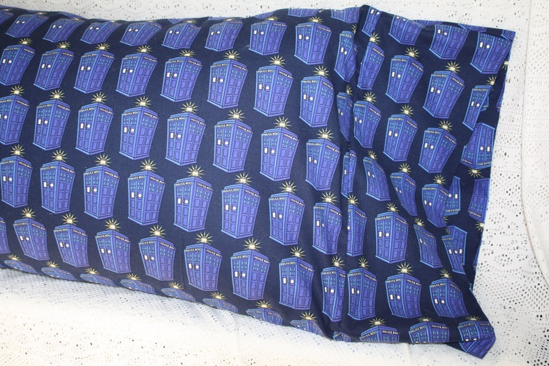 Doctor Who Tardis Bedding Pillowcase Sham Standard  Queen
