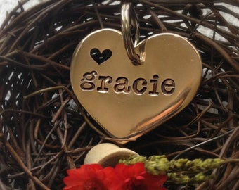 Heart Custom Pet ID Tag Personalize it with your Pet's Name and Phone Number
