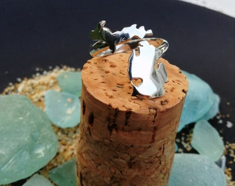 Wrap Around Ring of Michigan with Lower Peninsula and Upper Peninsula in Copper or Sterling Silver