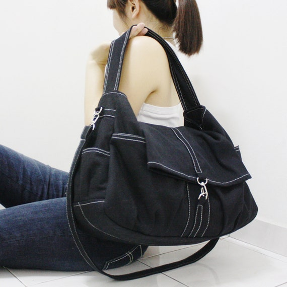 18cdb6b3071 FREE SHIPPING Black Shoulder Bag Personalized Gifts Tote   Etsy