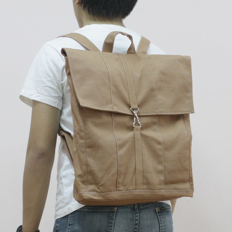 Laptop Bag Khaki Backpack FREE SHIPPING Document Bag Gift for Men Sale 15/% off School Bag Personalized Gift Working Bag