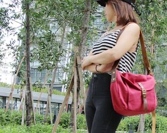 BACK TO SCHOOL 20%, Red Sling Bag, Handbags, Shoulder Bags, Leather Strap, Crossbody bag, Messenger Bag, Hobo Bag, Festival Bag, Kinies