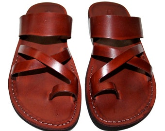 c9d4a0da38f Brown Bath Leather Sandals For Men   Women - Handmade Unisex Sandals