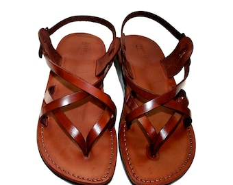 a27a6879c467d Brown Mix Leather Sandals For Men   Women - Handmade Unisex Sandals