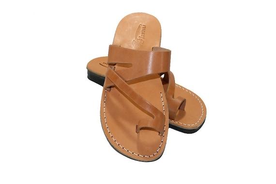 Sandals Men For Caramel Leather Women Sandals Handmade amp; Zing Unisex Jesus Sandals Leather Leather Sandals Leather Flats Genuine w1IxrqR1c7